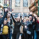 Belfast Food Tour founder Caroline Wilson, with a group on the Tour