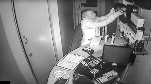 CCTV images from a previous break-in at his salon in Ballyhackamore