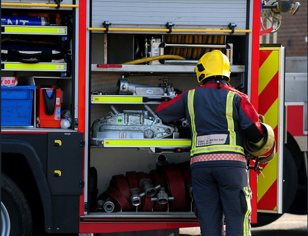 A number of bins had been placed against the wall of house and set alight.