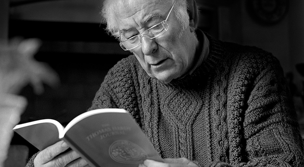 The iconic image of Seamus Heaney taken by John Minihan and now included in the UCC archive