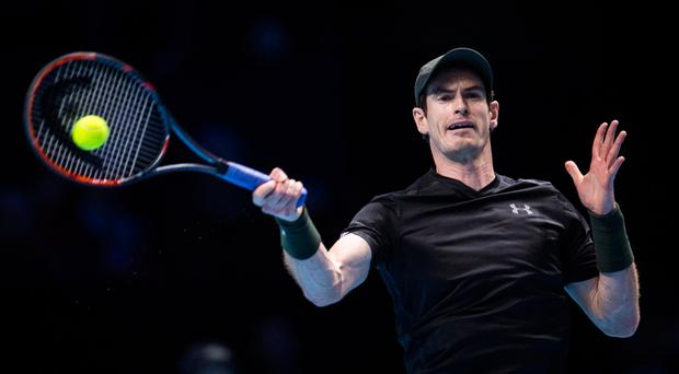 Hot streak: Andy Murray beat Kei Nishikori at the O2 Arena yesterday