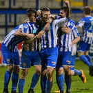 Hot and Cole : Coleraine goalscorer Jordan Allan in Showgrounds celebration