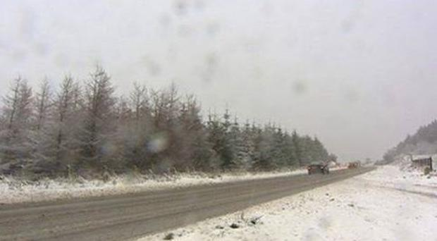 Police reported cars becoming stuck on the Windyhill Road from Limavady to Coleraine. Image: PSNI