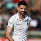 Relief: James Anderson took three wickets against India