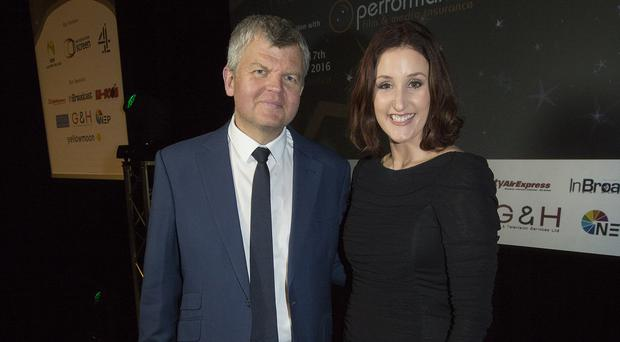Broadcaster Adrian Chiles and The Fall actress Bronagh Waugh presented the awards