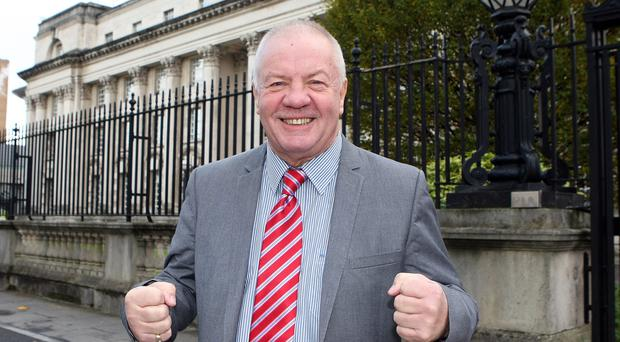 Raymond McCord celebrated the Court of Appeal ruling. Picture by Freddie Parkinson/Press Eye