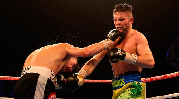 Conrad Cummings against Ronny Mittag at the Wembley SSE Arena, London. PRESS ASSOCIATION Photo. Picture date: Friday November 18, 2016. Photo credit: Steven Paston/PA Wire