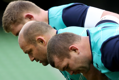 Shoulder to shoulder: Rory Best says a drop-off in performance following the historic win over New Zealand is not acceptable