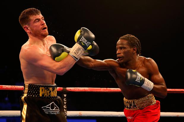 Paddy Gallagher against Tamuka Mucha at the Wembley SSE Arena, London. PRESS ASSOCIATION Photo. Picture date: Friday November 18, 2016. Photo credit: Steven Paston/PA Wire