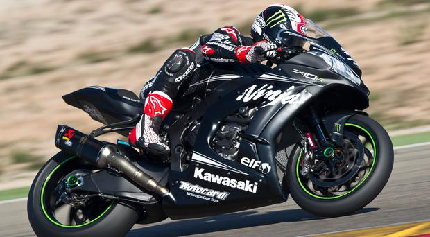 Getting to grips: Back to back World Superbike champion Jonathan Rea tests the new Kawasaki Ninja ZX-10RR in Spain