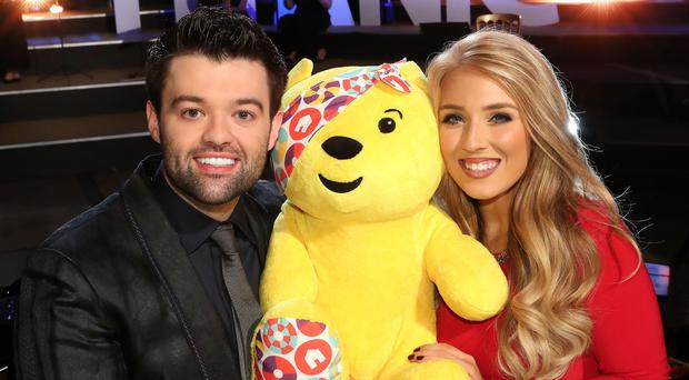 Pop tenor Eamonn McCrystal and singer and former member of Celtic Women Chloe Agnew who performed at this year's BBC Children in Need in Titanic Belfast