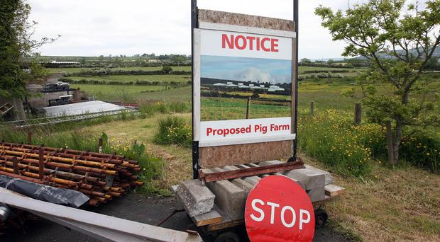 The site of the proposed pig farm