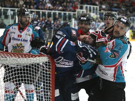 The Stena Line Belfast Giants defeated the Dundee Stars 4-3 following a shootout in Dundee Ice Arena on Saturday. Photo credit: Derek Black