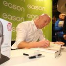 Press Eye - Northern Ireland - 20th November 2016 Irish rugby legend Paul O'Connell signs copies of his book in Easons Belfast. Photographer - © Matt Mackey / Press Eye