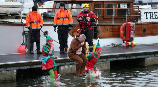20/11/2016: Special Olympics Ulster is calling on people from Belfast and beyond to get 'Freezin' for a Reason' this December by participating in their coolest fundraising event of the year. Belfast's Polar Plunge will take place on Saturday 3rd December at Belfast Marina behind the SSE Arena from 11am. Last year, hundreds of people including families, sports clubs, businesses and individuals – many in festive fancy dress - turned out to take part in this unique fundraising event, bravely plunging into icy cold waters. Register online at www.specialolympics.ie/polarplunge. Registration costs just £15 with plungers asked to raise an additional £35. The full £50 goes directly to supporting athletes with intellectual disabilities in sport and competitions. Plungers who raise more than £50 will also receive a complimentary Polar Plunge t-shirt. The Polar Plunge is kindly supported by the Law Enforcement Torch Run. Pictures by Kelvin Boyes, Press Eye.