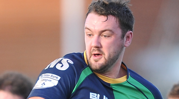 Attack: Kenny Morton goes on the charge for Ballynahinch