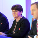 Martin McGuinness and Arlene Foster with Taoiseach Enda Kenny at the North South Ministerial Council (NSMC) meeting in Armagh