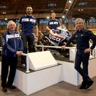 Showtime: (from left) Hector Neill, Davide Giugliano, Christian Iddon and Philip Neill at Motorcycle Live in Birmingham's NEC