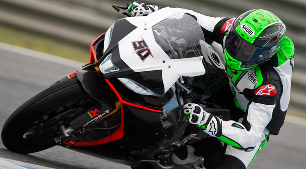 Back in the hotseat: Eugene Laverty can see huge improvements in the Aprilia since his first spell ended in 2013