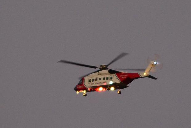 Cavehill Country Park: Rescue operation under way. Photo: Arthur Allison/Pacemaker.