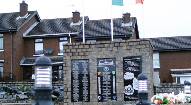 The republican memorial recently erected in the Ardoyne area