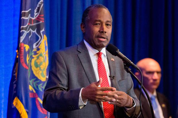 Ben Carson at a Trump campaign event in Valley Forge, Pennsylvania. (File photo by AFP/Getty Images)