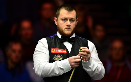 Victory: Mark Allen through to the second round