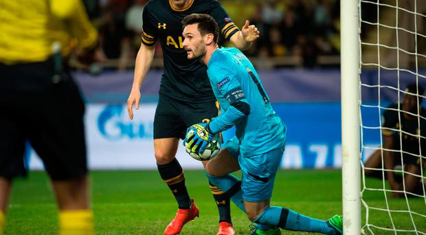 No joy: Hugo Lloris couldn't prevent Spurs from crashing out