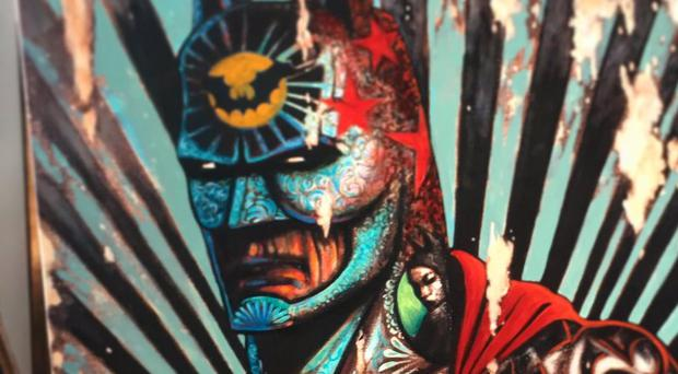 Terry Bradley's Batman canvas was valued at around £2,500.