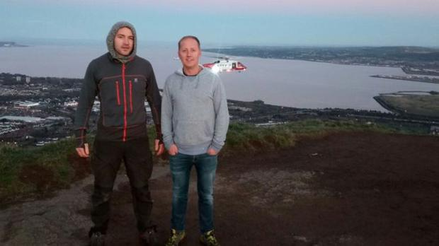 Rescuers: David McCrum and Richard Lamont. Pic: BBC