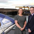 Pictured is Deirdre Simpson, Programme Manager for Inland Fisheries with Patrick Crossan, Senior Digital Transformation Consultant at BT Business in Northern Ireland