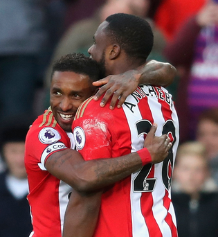 Thirst for goals: Sunderland striker Jermain Defoe