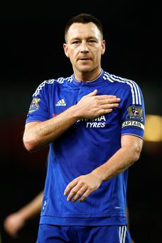 Injured: Chelsea's John Terry