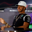 Showdown: Lewis Hamilton and Nico Rosberg at the final F1 press conference of the season