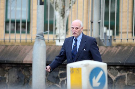 John Stanfield leaves Antrim Court. Picture Colm O'Reilly