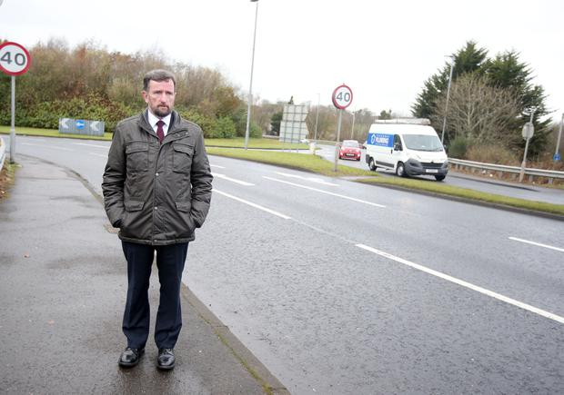 DUP Councillor George Duddy pictured at the Newbridge Road in Coleraine where a teenage boy was involved in a hit and run and later died in hospital. A 23-year-old man was arrested after the car was found in Magherafelt.Picture by Jonathan Porter/Press Eye.