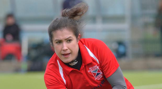 Sidelined: Quins' Claire Buchanan was injured on Saturday