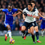 Man on a mission: Victor Moses powers past Spurs' Mousa Dembele