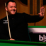 Maximum man: Mark Allen shares a joke with the crowd after his 147 break in York