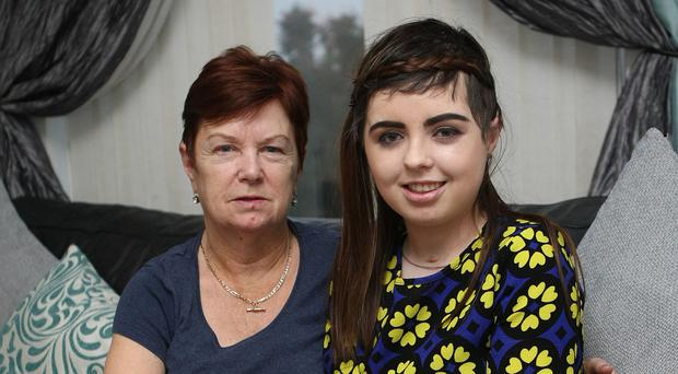 Justine McConville with her mother Barbara