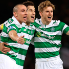 Scott Brown, Erik Sviatchenko and Stuart Armstrong of Celtic