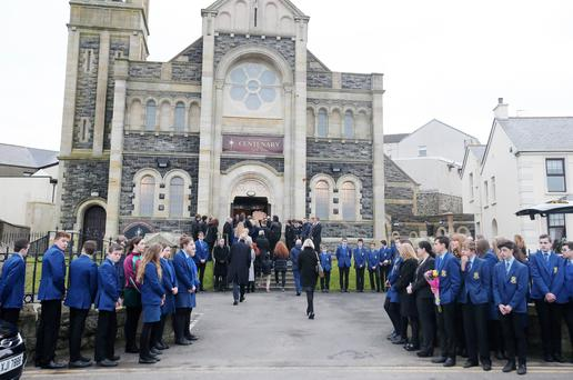 Funeral of Reece Meenan at Star Of The Sea Church in Portstewart. Picture by Jonathan Porter/Press Eye