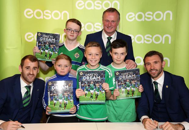 Young fans get their hands on a copy