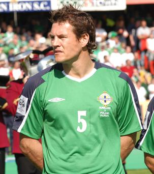 Mark Williams lines out for Northern Ireland in 2004