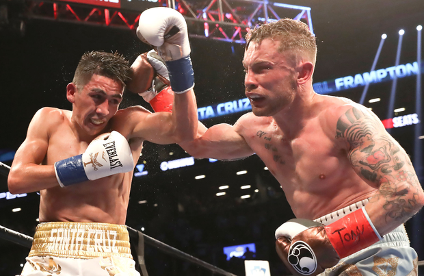 Classic encounter: Leo Santa Cruz and Carl Frampton put on a thrilling battle for the WBA World title in New York in July