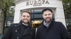 Keith Duffy and Brian McFadden