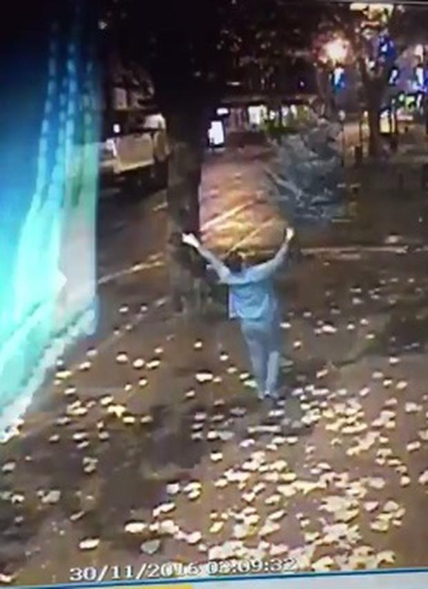 CCTV still of the theft at Filfthy McNastys