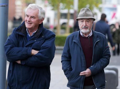 Members of the Alternative A5 Alliance leave the High Court in Belfast where they are involved with legal action against the proposed A5 dual carriageway in Tyrone. Picture by Jonathan Porter/Press Eye