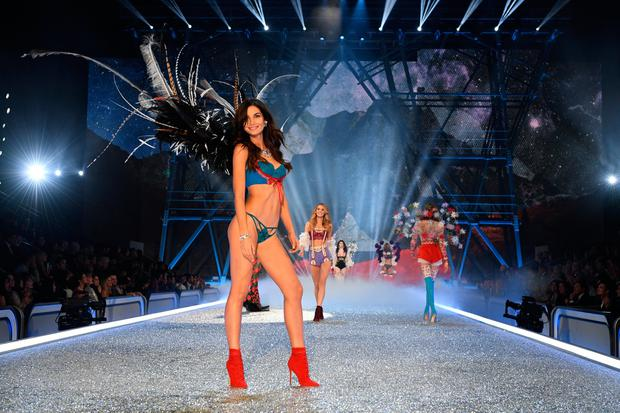 PARIS, FRANCE - NOVEMBER 30: Lily Aldridge walks the runway during the 2016 Victoria's Secret Fashion Show on November 30, 2016 in Paris, France. (Photo by Dimitrios Kambouris/Getty Images for Victoria's Secret)