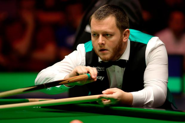 Disappointed: Mark Allen went down 6-3 to John Higgins
